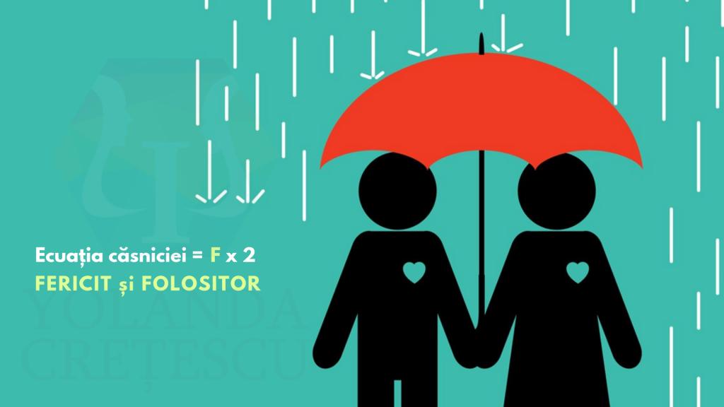 Ecuația căsniciei = F x 2. FERICIT și FOLOSITOR – ecuația oricărei relații umane.